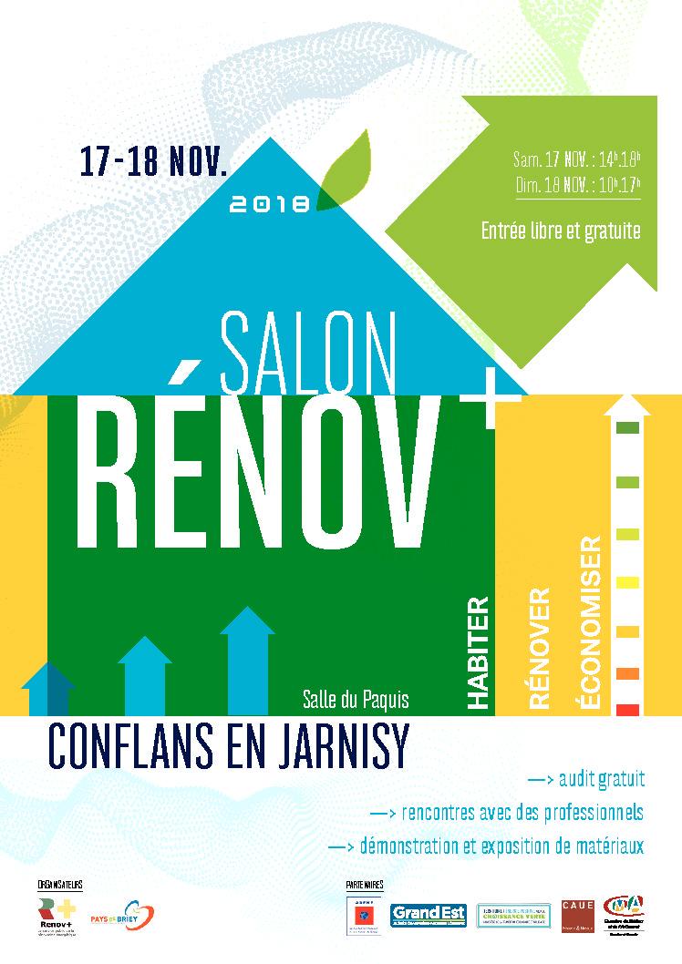 Rendez-vous les 17 et 18 novembre au Salon Renov+, Salon habitat et énergie, à Conflans en Jarnisy !